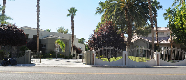 A party house is seen, left, at 616 Campbell Drive in Las Vegas Friday, Sept. 20, 2013. Neighbors have complained about the noise coming from the house during nighttime parties. (David Cleveland/L ...