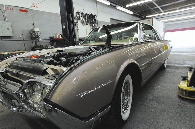 A nearly finished '62 Ford Thunderbird brought back to life by inmate workers in the car restoration program, operated through Silver State Industries, at the Southern Desert Correctional Center n ...