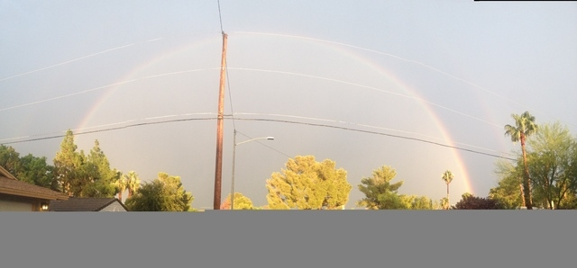 September 9 view of a full rainbow after the storm. (Courtesy Stephen O'Hara)