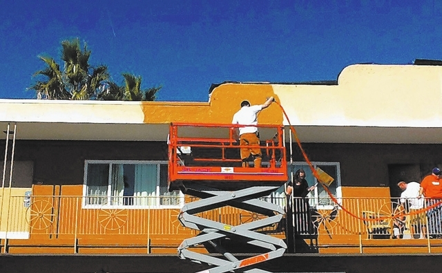 Courtesy Veterans Village Las Vegas Volunteers and employees from The Home Depot Foundation assisted with a face-lift for Veterans Village Las Vegas, a temporary housing and resource facility for  ...