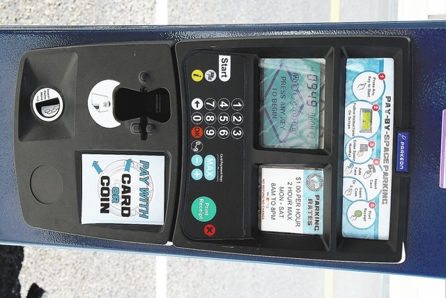 Courtesy City of Las Vegas The new parking meters are easier to use than the outdated coin-only meters they replaced. The new meters accept credit and debit cards, as well as coins, and the printe ...