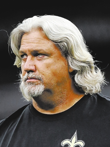 New Orleans Saints defensive coordinator Rob Ryan walks the field prior to his game against the Oakland Raiders at the Superdome during an NFL preseason game in New Orleans, Louisiana on Friday, A ...