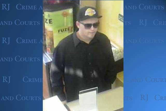 This photo shows a man suspected in the robbery of a local business in the area of Charleston Blvd and Marion Dr. (Courtesy of Las Vegas Metropolitan Police Department)