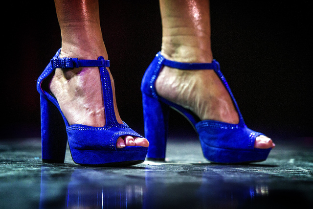 Alecia Sibio during the  Ms. Senior Nevada Pageant at  the South Point Casino-Hotel Showroom on Wednesday, Aug. 21, 2013. This is the 28th annual for the Nevada pageant.(Jeff Scheid/Las Vegas Revi ...