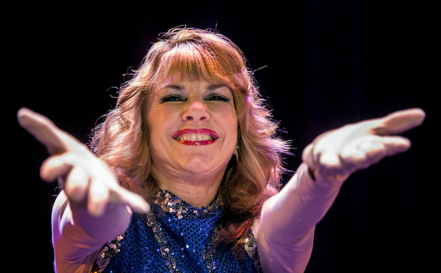 Sharon Rose D'Alessio during the  Ms. Senior Nevada Pageant at  the South Point Casino-Hotel Showroom on Wednesday, Aug. 21, 2013. This is the 28th annual for the Nevada pageant.(Jeff Scheid/Las V ...