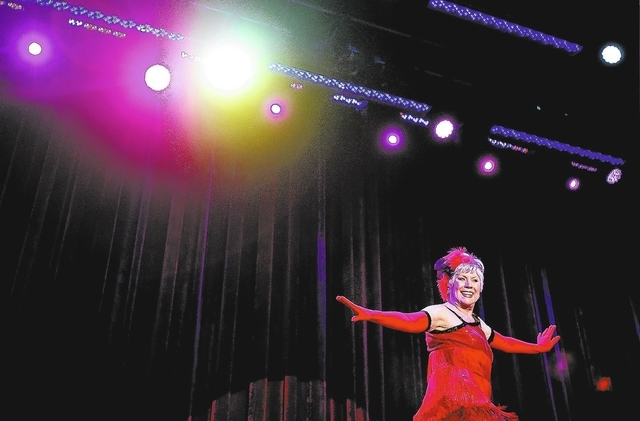 Sue Simecka during the  Ms. Senior Nevada Pageant at  the South Point Casino-Hotel Showroom on Wednesday, Aug. 21, 2013. This is the 28th annual for the Nevada pageant.(Jeff Scheid/Las Vegas Revie ...