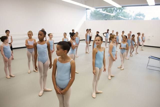 Students attend a class at the Academy of the Nevada Ballet Theatre, Sept. 9. (Samantha Clemens/View)