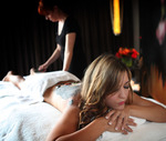 A model receives a chakra balancing treatment for an illustration detailing ways people can relax on the Strip at the Mandarin Oriental Spa in Las Vegas Tuesday, Aug. 6, 2013. (Photo illustration  ...