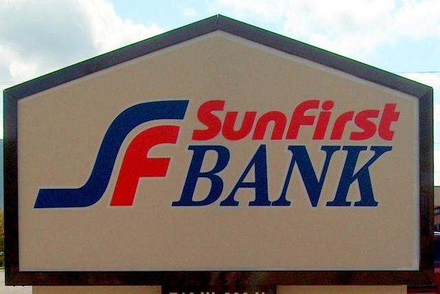 FILE - SunFirst Bank in St. George, Utah.
