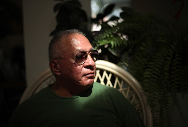 Vietnam veteran Alexander Nogales suffers from post-traumatic stress disorder. Nogales says local VA officials have told his PTSD support group their last session will be Dec. 18. Photographed in  ...