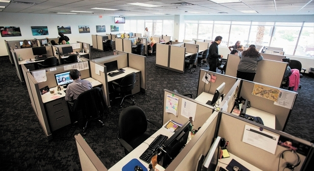 The interior of the new offices of Viator, a travel agency, is seen at it's location at 777 N. Rainbow, Suite 300, in Las Vegas on Thursday, Sept. 26, 2013. (Chase Stevens/Las Vegas Review-Journal)
