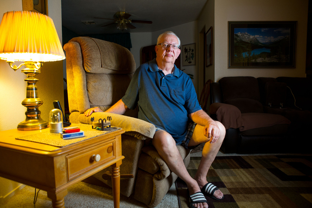 Samantha Clemens/Las Vegas Review-Journal Leon Springer, shown Monday inside his Henderson home, suffered a broken neck after a drunken driver's vehicle hit his in a head-on collision. Sprin ...
