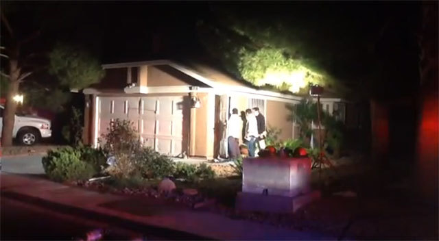 A woman in her 20s died from injuries suffered in a house fire early Friday morning. (Courtesy/Las Vegas Fire Department)