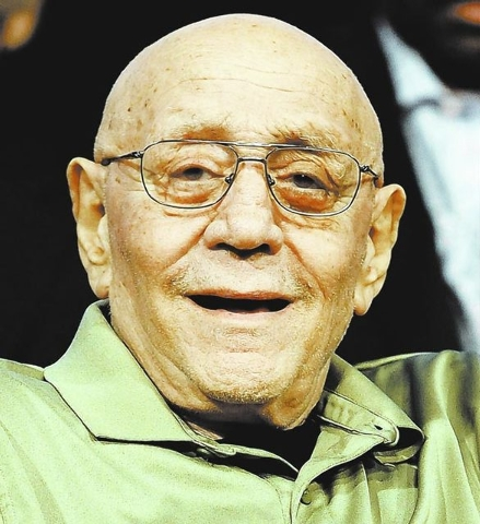Former UNLV coach Jerry Tarkanian was inducted into the Naismith Basketball Hall of Fame on Sunday. (AP Photo/Jessica Hill)