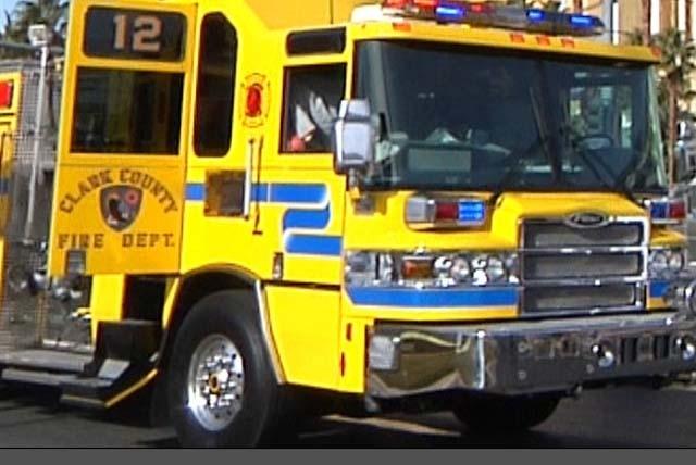 MICHAEL QUINE/LAS VEGAS REVIEW-JOURNAL File Photo Clark County Fire Department fire engine