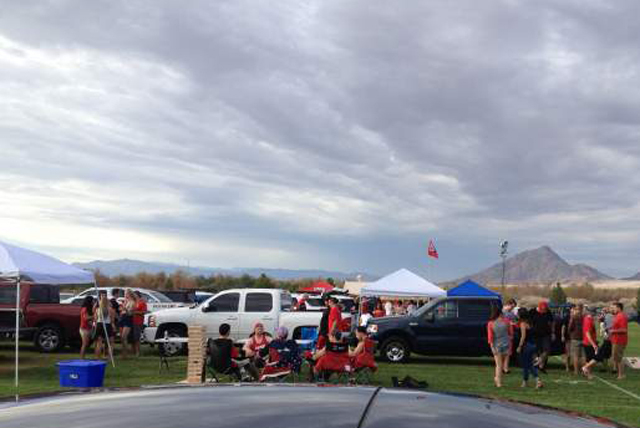 UNLV football fans tailgate at Sam Boyd Stadium before a game against Central Michigan. (Courtesy photo)