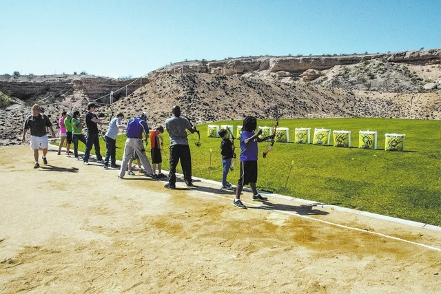 The city of Henderson added its first archery range, shown in this undated photo, to the Whitney Mesa Recreation Area in Henderson. The city has more than 50 parks. (Special to View)