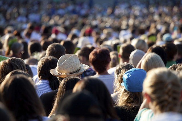 Large crowd of people (Thinkstock)