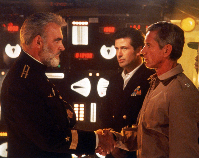 """The Hunt for Red October"" starring, from left, Sean Connery, Alec Baldwin and Scott Glenn, is based on the book by Tom Clancy. The bestselling author of this book and other wildly successful tech ..."