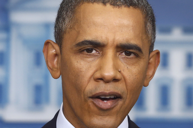 President Barack Obama speaks with the media about the the budget and the partial government shutdown Tuesday. The president said he told House Speaker John Boehner he's willing to negotiate with  ...