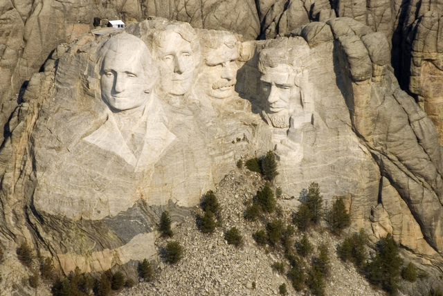 FILE - This April 22, 2008 file photo shows the Mount Rushmore National Memorial in the Black Hills of South Dakota. The Obama administration says it will allow states to use their own money to re ...