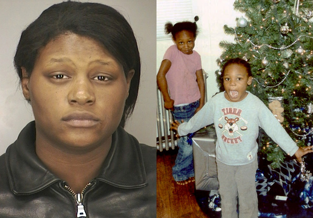 This combination of file photos provided by the Nassau County Police Department shows Leatrice Brewer in 2003, and two of her children, Jewell Ward, and Michael Demesyeux, right. Legal experts say ...