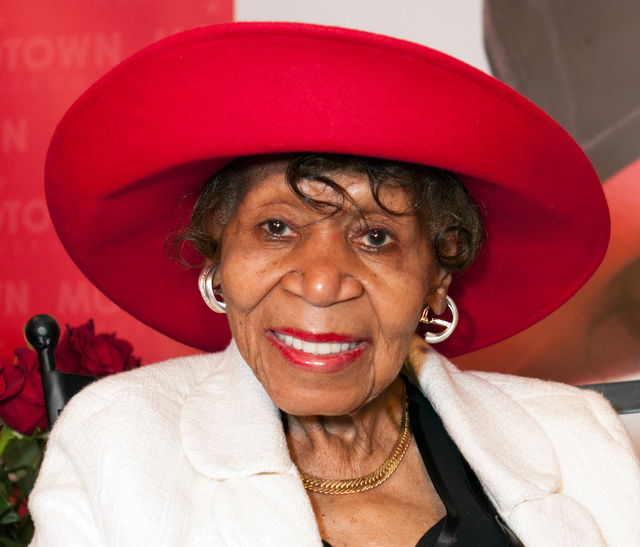 Maxine Powell smiles during an event held in her honor at the Motown Museum on Aug. 26 in Detroit. Powell, who was responsible for developing the charm, grace and style of Motown Records artists d ...