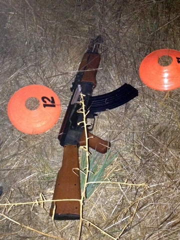 This image, released by the Sonoma County Sheriff's Department, shows a replica gun that was being carried by a 13-year-old boy in Santa Rosa, Calif., on Tuesday, Oct. 22, 2013.  Two Sonoma County ...