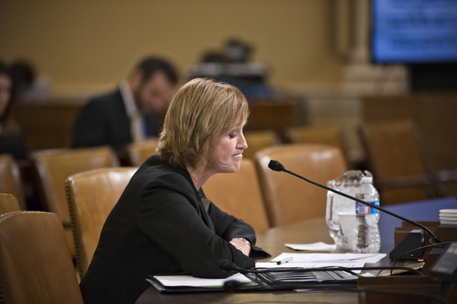 Marilyn Tavenner, the administrator of the Centers for Medicare and Medicaid Services, pauses while testifying on Capitol Hill on Tuesday,  before the House Ways and Means Committee hearing on the ...