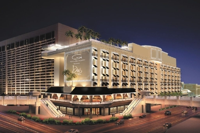 An artist's rendition of the planned redevelopment of the casino once known as the Bill's Gamblin' Hall and the Barbary Coast. Caesars Entertainment Corp. decided to dump the Gansevoort Hotel Grou ...