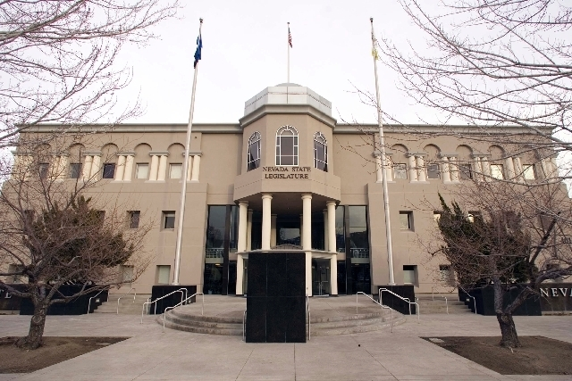 The Nevada State Legislature building (Las Vegas Review-Journal/File)