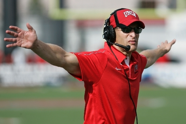 UNLV football coach Bobby Hauck. (Las Vegas Review Journal/File)