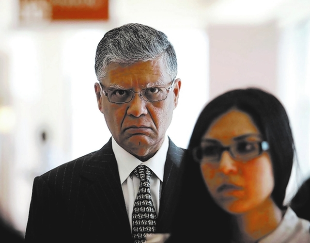 LAS VEGAS REVIEW-JOURNAL FILE PHOTO Dr. Dipak Desai is seen en route to the courtroom for closing arguments in his criminal trial at the Regional Justice Center in Las Vegas on Thursday, June 27.  ...