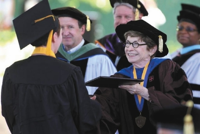 Western Nevada College President Carol Lucey announced Wednesday she will step down from her position by the end of this fiscal year or sooner if a replacement can be found.