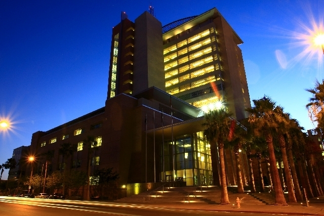 The Clark County Regional Justice Center. (File, Las Vegas Review-Journal)