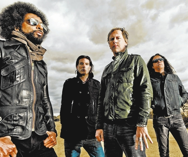 Alice In Chains rocks the Palms Saturday. From left: Singer William DuVall, drummer Sean Kinney, guitarist Jerry Cantrell and bassist Mike Inez. (Photo by Johnny Buzzerio)