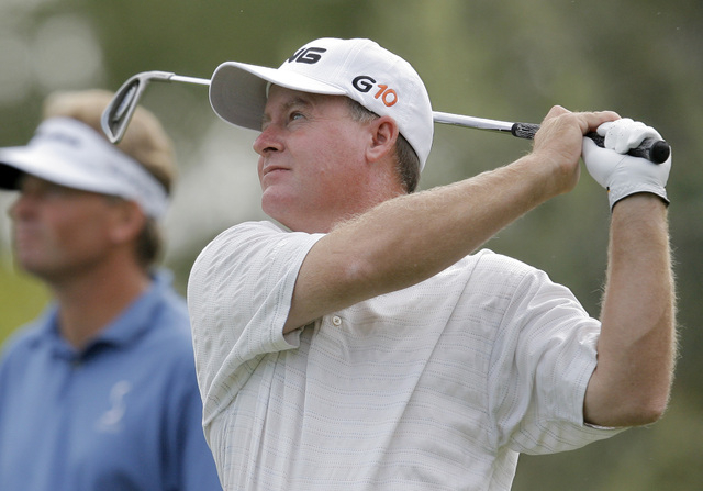 Since Bob May's decision to put down roots in Las Vegas 20 years ago, he's found success on the PGA Tour and succeeded in improving young players' games. (AP Photo/Jae C. Hong)