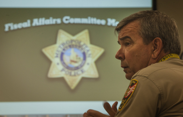 Sheriff Doug Gillespie as seen during Metro's Fiscal Affairs Committee Monday, Oct. 28, 2013, at Metro Headquarters, 400 S. Martin Luther King Boulevard. The committee discussed the heavily debate ...