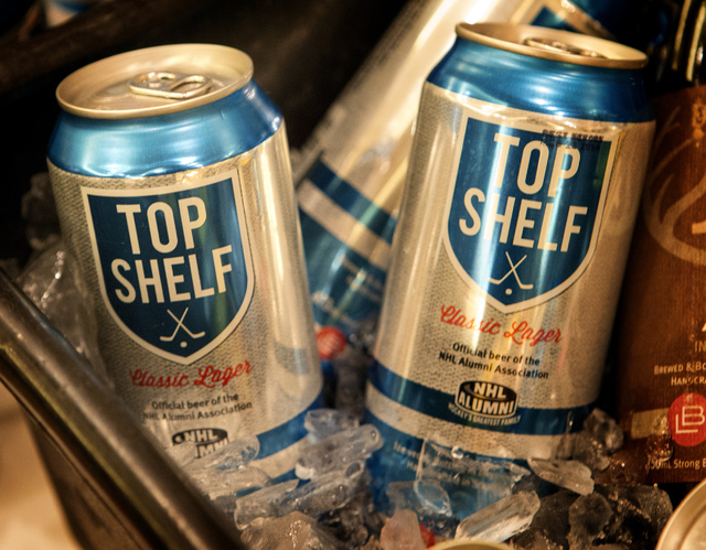 Top Shelf beer as seen Tuesday, Oct. 1, 2013 at he National Beer Wholesalers Association Convention and Trade show  inside Caesars Palace on Tuesday, Oct. 1, 2013. The craft beer is the official b ...