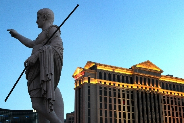 Caesars Entertainment Corp. operates 10 resorts on or near the Strip and more than 50 casinos and resorts across the U.S. (File photo)
