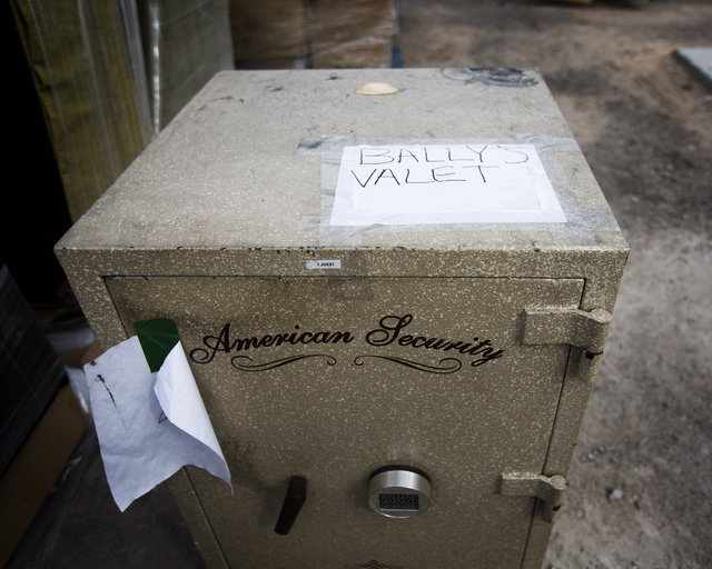 A safe will be part of an auction by Caesars Entertainment to sell 14,000 items over four days starting Friday at the Rio. (Jeff Scheid/Las Vegas Review-Journal)