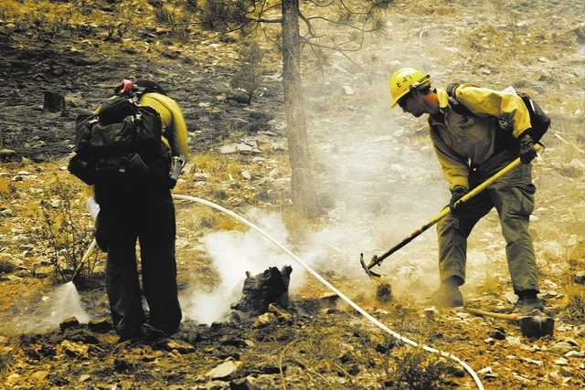 The firefighters who battled the summer Carpenter 1 Fire on Mount Charleston are among those to be honored Thursday. (Jeff Scheid/Las Vegas Review-Journal)