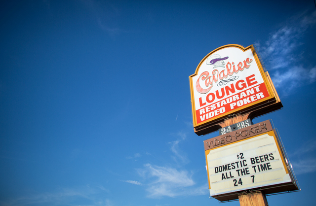 The Cavalier Lounge is a 24-hour bar located off U.S. Highway 95. (Samantha Clemens/View)