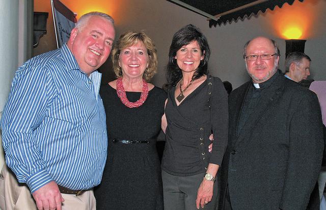 Rev.Bob Stoeckig, from left, Marilyn Dondero Loop, Terri Janison and Rev. James Jankowski. (Courtesy)