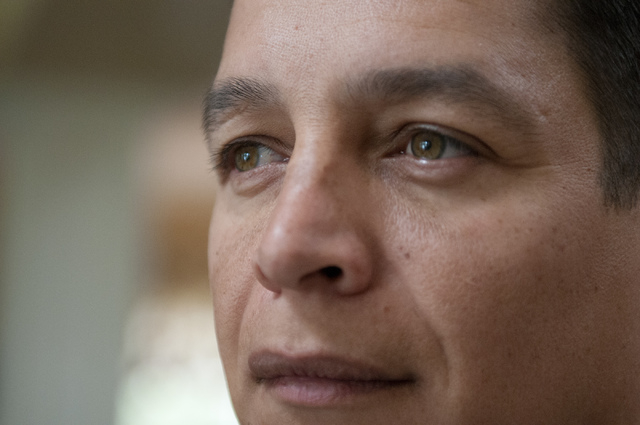 Walter Trujillo, a Venezuelan national and legal United States resident, is seen at his home in Las Vegas, Nev., Thursday, Oct. 10, 2013. The Nevada Supreme Court ruled against Trujillo Thursday i ...