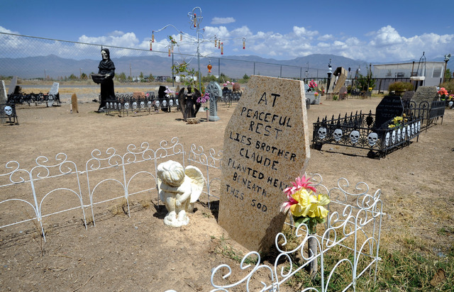 The Schoenings have two cemeteries on their property, a faux one that honors the dead and a pet cemetery. (David Becker/Las Vegas Review-Journal)
