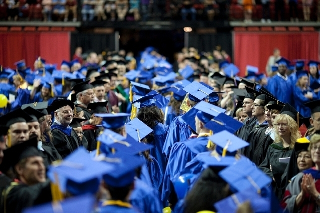 Students from the College of Southern Nevada graduate at the 2013 commencement ceremony. The College of Southern Nevada has hit a significant benchmark that will allow it to apply for the federal  ...