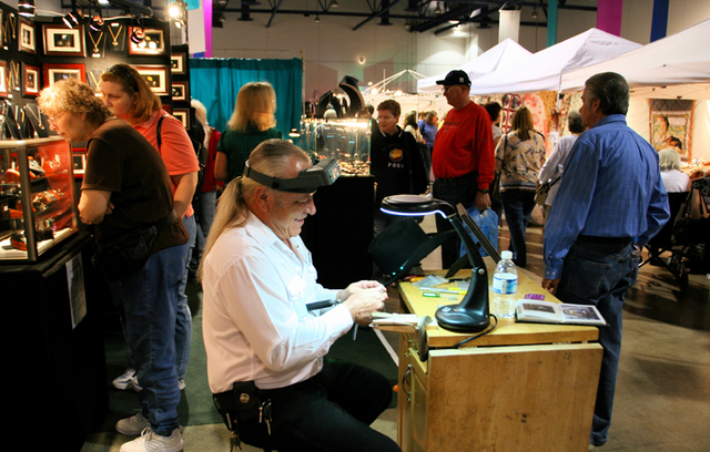 Jeweler Jim Lucas of Arizona at the annual Craft Festival, coming to Cashman Center.