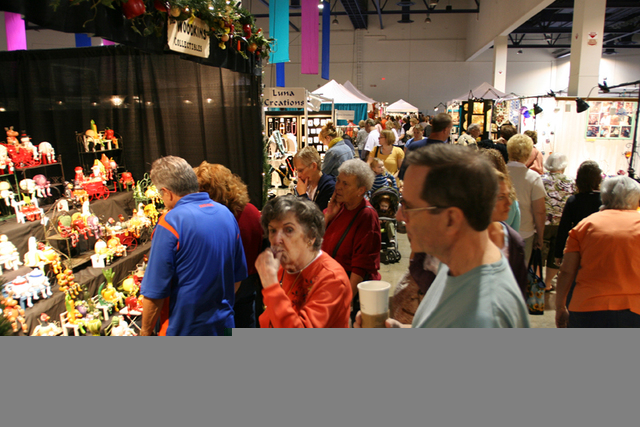 Shoppers at a previous Craft Festival