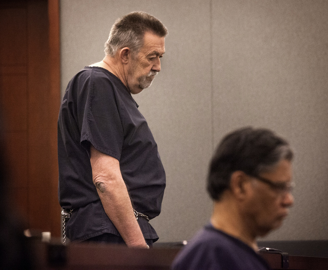 Nurse anesthetist Ronald Lakeman, left, and Dr.  Dipak Desai as seen Thursday, Oct. 24, 2013 during sentencing at Regional Justice Center. Lakeman was sentenced to eight to 21 years in prison whil ...